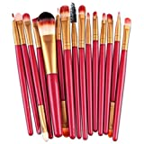 BEAUTYVAN Makeup Brush, 15 pcs Eye Shadow Eyebrow Lip Brush Makeup Brushes (B)