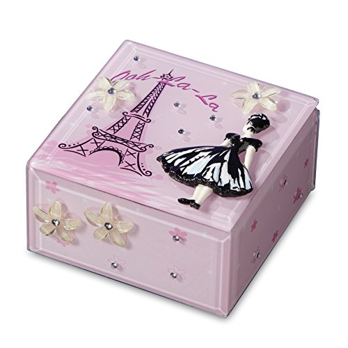 Francisco Glass Music Box (Ooh-La-La Music Jewelry Box)