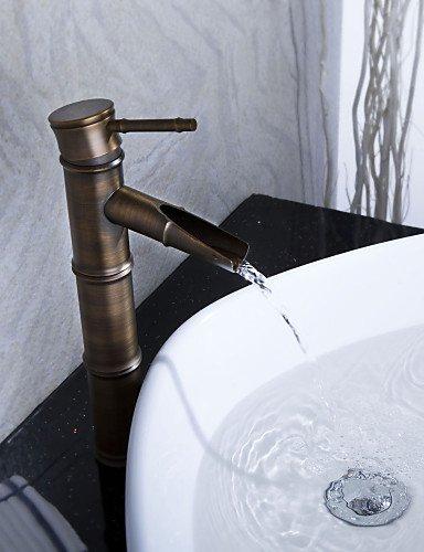 antike Bronze WasserfaÖl Waschbecken Wasserhahn (Bambus Form Design)