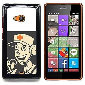 For Microsoft Nokia Lumia 540 N540 - Medic - Tf 2 Game Gaming /Modelo de la piel protectora de la cubierta del caso/ - Super Marley Shop -
