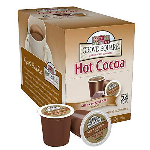 Grove Square Hot Cocoa, Milk Chocolate,12.70 oz, 24 Single Serve - Dark Organic Chocolate Swiss