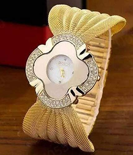 Women Crystal Diamonds Quartz Wristwatches, Waterproof Fashion Casual Luxury Bracelet Watch Butterfly Mesh Belt, Newstylish 2021 Elegant Butterfly Gold Watch Personality Accessories (Gold)