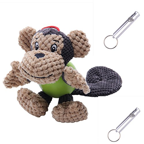 Dog Squeak Plush Toys - Free Monkey,Squeaky,Durable Chew Rub