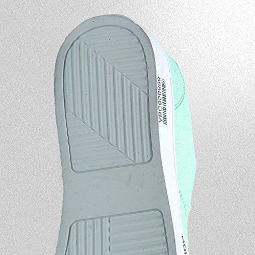 in traspirante scarpe stile stile Nuovo Size tendenza di uomo Green Scarpe basse ufficio 44 di YaNanHome da Espadrillas estivo tela coreana selvaggio da scarpe Black casual Color xnwzq8wafZ