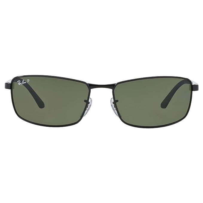 241d26c6773 Amazon.com  Ray-Ban Sunglasses - RB3498   Frame  Black Lens  Green  Clothing