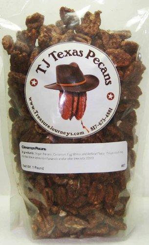 - Cinnamon Sugar Coated TJ Texas Pecans - 16 Ounce Bag