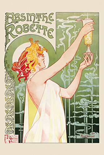 (HUNTINGTON GRAPHICS Absinthe Robette by Livemont - Art Poster 24 x 36 inches)