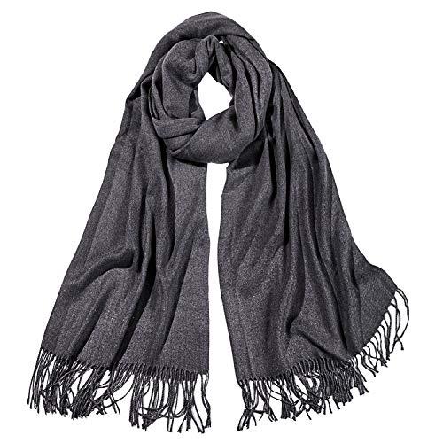 Grey Wool Scarf - 1