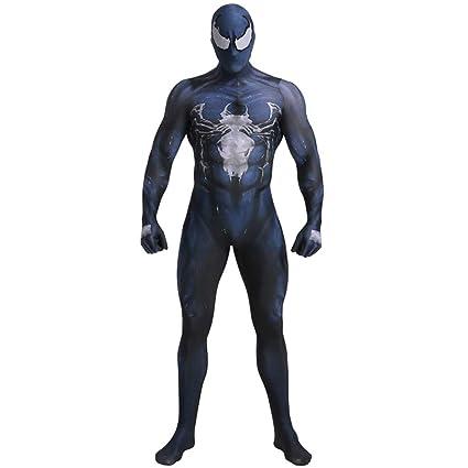 K-Flame Venom Spiderman Disfraz Mono Adulto Cosplay Onesie ...