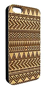 Aztec Geometric Pattern Real Maple Wood Snap-On Cover Hard Case for iPhone 5c