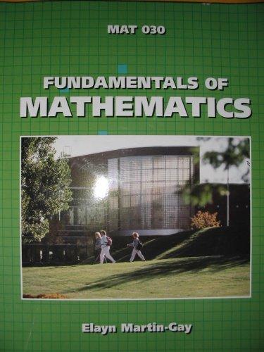 Fundamentals of Mathematics MAT 030 with Chapter Test Prep Video CD