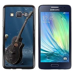 TopCaseStore / la caja del caucho duro de la cubierta de protección de la piel - Music Guitar - Samsung Galaxy A3 SM-A300