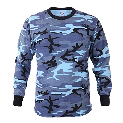 - Rothco Long Sleeve Colored Camo T-Shirt, Sky Blue Camo, L