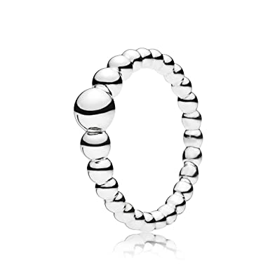 97854ae34 Pandora Women Silver Stacking Ring - 197536-52: Amazon.co.uk: Jewellery