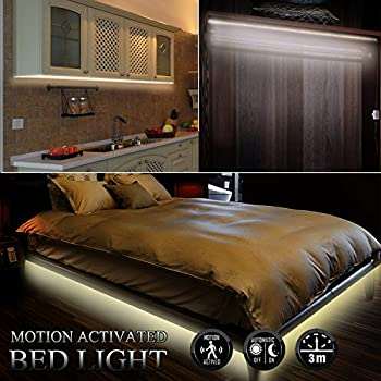 Motion Activated Bed Strip Lights,USB Or Battery Powered Flexible Body  Sensor LED Strip Night