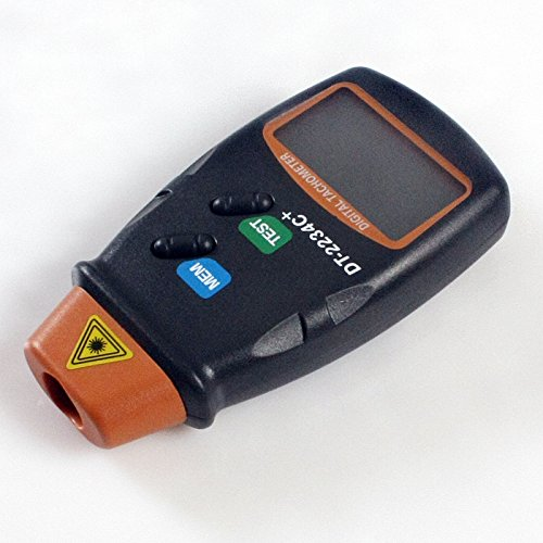 Toolso Digital Laser Photo Tachometer Non Contact RPM Tach Speed Gauge Engine Diagnostic Tool ()
