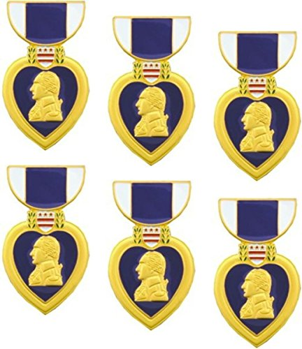 - MilitaryBest Purple Heart Medal Hat Pin - 1 5/8 6 Pack