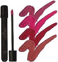 Makeupbox 4 Labiales Matte Larga Duración Redish Collection lip gloss endless Matte 12-horas Touch-proof libres de plomo, conservadores y parabenos ,cruelty free