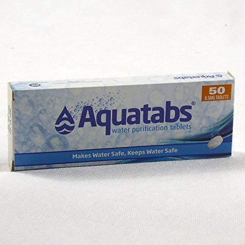 Aquatabs® - Water Purification tablets. 1 tablet per Litre Water - Box of 50 by Hygiene4less Medentech