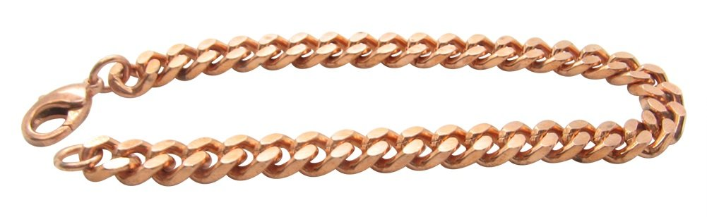 Solid Copper Bracelet CB651G - 1/4 of an inch wide (7 1/2 Inches)