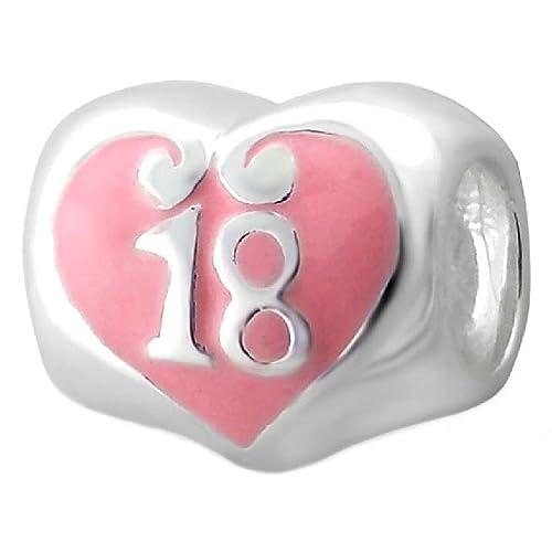 So Chic Joyas - Abalorio Charm Corazón 18 años Cumpleaños ...