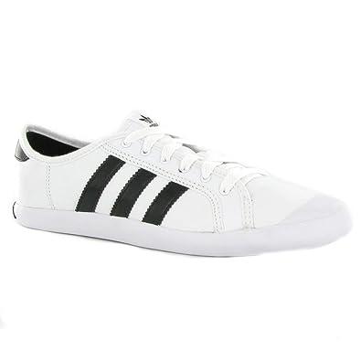 innovative design 95dbc 394b9 Adidas Adria Low Sleek White Black Leather Womens Trainers Size 6 UK  Amazon.co.uk Shoes  Bags