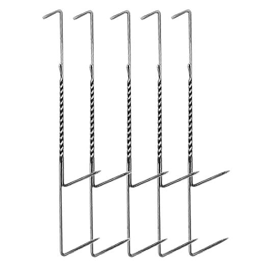 10 Behr R/äucherzubeh/ör Doppelhaken zum Fisch R/äuchern R/äucherhaken-Set