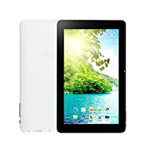 Soledpower® 10 Inches Android 4.2 Tablet PC Alwinner A23 Dual Cores Dual Camerals 1GB Memory 8GB Hard Disk Wifi Inside(white)