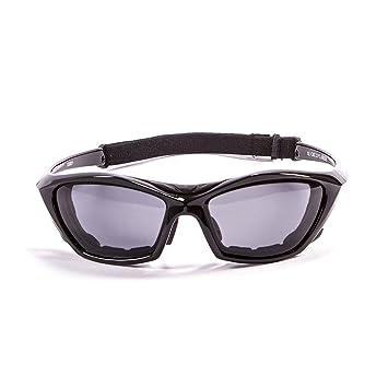 Ocean Sunglasses Cumbuco - lunettes de soleil polarisées - Monture : Noir Laqué - Verres : Fumée (15000.1) cS0NPSyO
