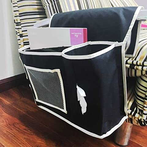 New Bedside 6 Pocket Household Sofa Caddy Organizer Book Remote Pad Storage - Crystal Quilted Jacket