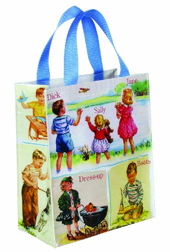 Blue Q Dick & Jane Handy Tote - Recycled Shopper Tote