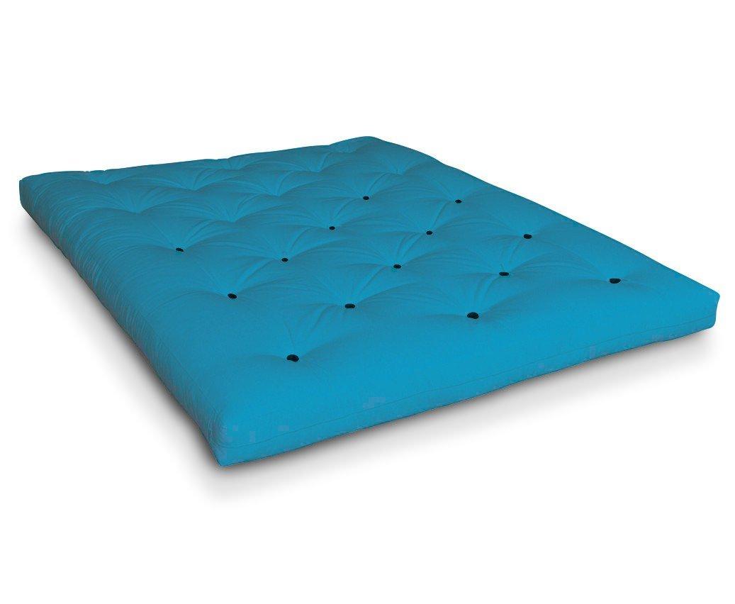 Futon Kure Kokosfuton Futonmatratze mit Kokos und 6x Schafwolle von Futononline, Größe:200 x 200 cm, Color Futon SE Amazon:Horizon Blue/Filz schwarz