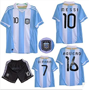 Replica 2013-14 Season Argentina World Cup Qualifiers New Home Kit Football  Jersey Suit ( 093264348