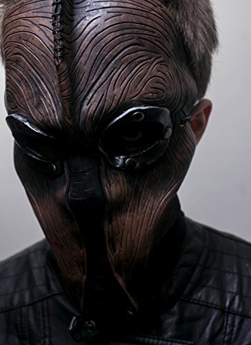 Steampunk Handmade Genuine Leather Mask in Brown for Masquerades Cosplay or Halloween - Man's Past