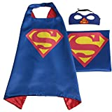 Whoopgifts Superhero Cape and Mask Set Kids - Adult Halloween Costume