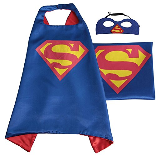 superman+costumes Products : Whoopgifts Superhero Cape and Mask Set Kids, Adult Halloween Costume