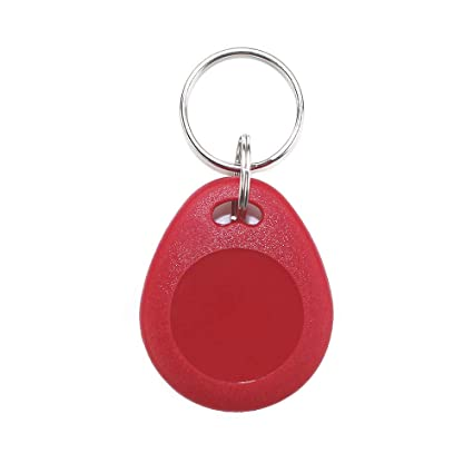 THONSEN 13 56MHz MIFARE Classic 1K RFID Contactless Key Fob ISO14443A Color  Red (Pack of 10)