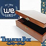 WE Games Old World Wooden Treasure Box with Brass
