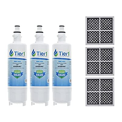 Tier1 Replacement for LG LT700P ADQ36006101, ADQ36006102, Kenmore 46-9690, and LT120F Water and Air Filter Combo 3 Pack
