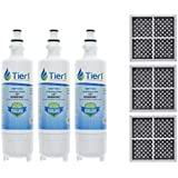 Tier1 LT700P, ADQ36006101, ADQ36006102, Kenmore 46-9690, and LT120F Water and Air Filter Combo 3 Pack