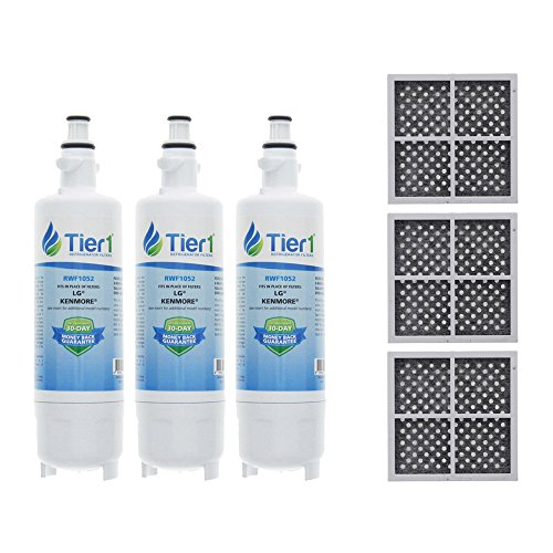 Price comparison product image Tier1 LG LT700P,  Kenmore 46-9690,  ADQ36006101,  ADQ36006102,  and LT120F Water and Air Filter Combo 3 Pack