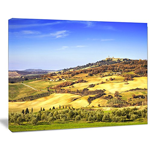 Design Art Penza Medieval Village Italy Oversized Landscape Wall Art Print