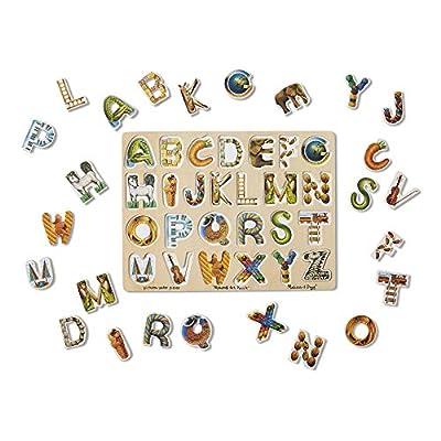 Melissa & Doug Alphabet Art Wooden Puzzle (26 pcs): Melissa & Doug: Toys & Games