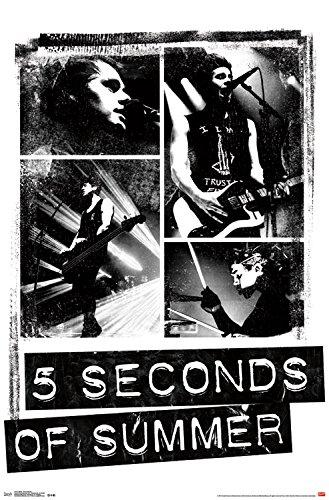 Trends International 5 Seconds of Summer Photo Blocks Wall Poster 22.375