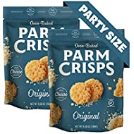 ParmCrisps Original, Keto Snacks, Party Size 9.5 oz (Pack of 2), 100% Cheese Crisps, Gluten Free, Sugar Free, Keto-Friendly