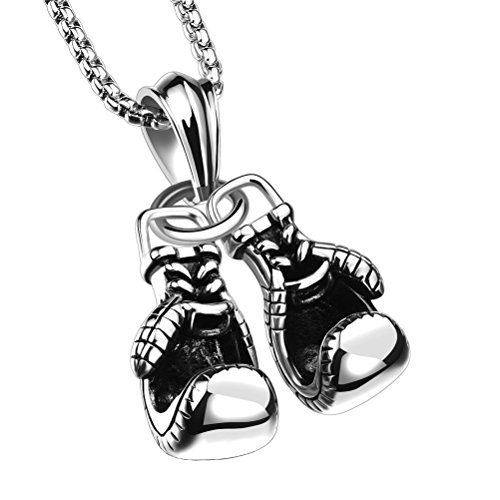 PAURO Stainless Boxing Pendant Necklace product image