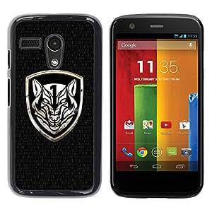 "For Motorola Moto G ( 1st Generation ) , S-type Cresta feroz"" - Arte & diseño plástico duro Fundas Cover Cubre Hard Case Cover"