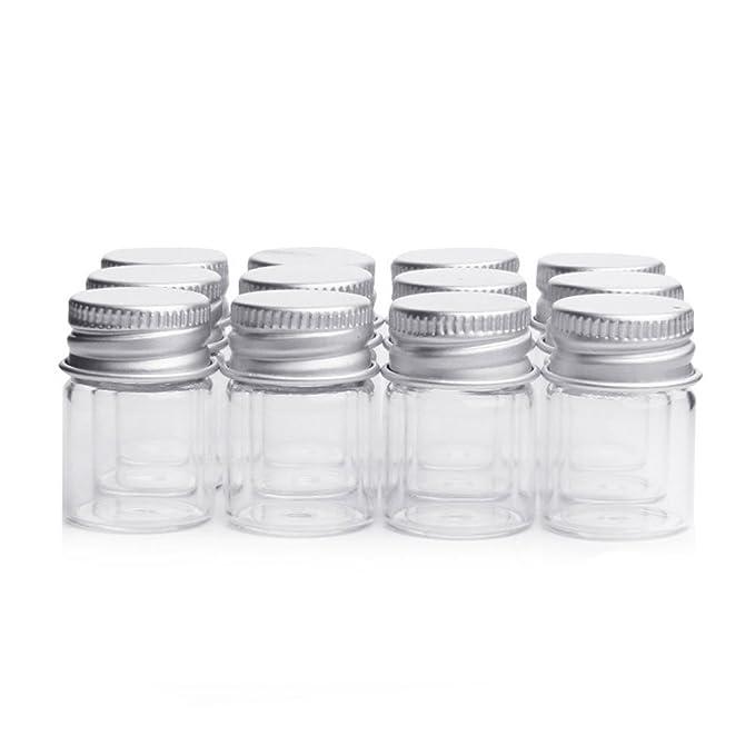 10 frascos de 5 ml para muestras, frascos de vidrio con tapas de ...