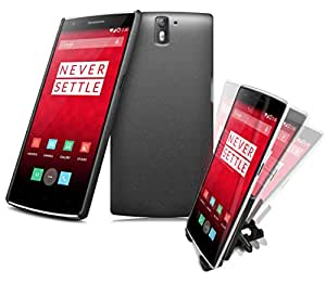 TecWins - OnePlus One - Cobertor Trasero Duro - OnePlus One Back Cover - Color NEGRO