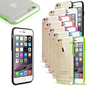 Ultra Transparent Light Cover Case for iPhone 6 ,Color:Rose Protective Smartphone Shell